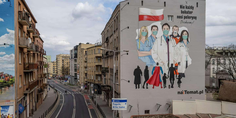 Photo Mystère #7 : à Varsovie, du street art en soutien aux soignants qui luttent contre le Covid-19