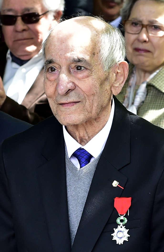 Rafael Gomez Nieto, le 20 avril 2017,à Madrid lors d'une cérémonie d'inauguration d'un jardin commémorant les soldats espagnols qui ont participé à la libération de Paris en 1944.