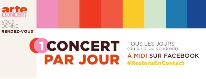 Bandeau des Concerts à la maison sur la page Facebook d'Arte.