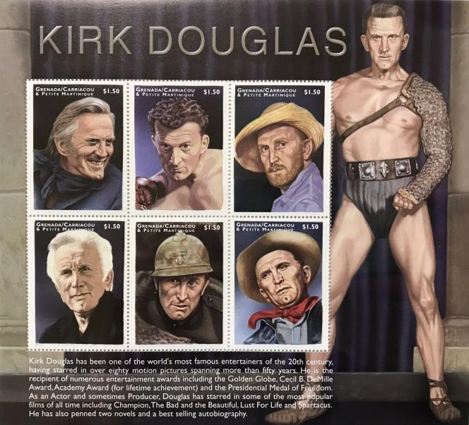 Kirk Douglas timbré par Grenada.