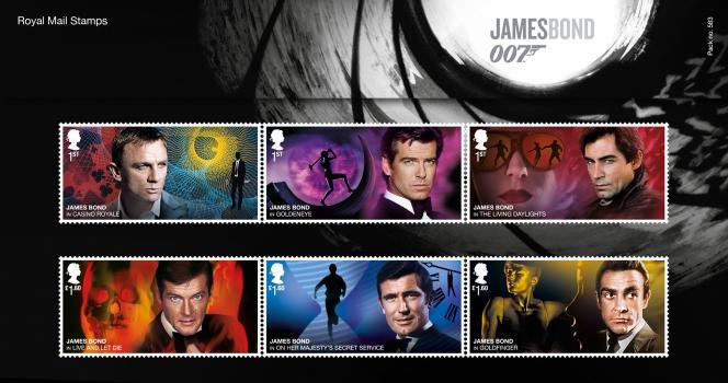 Les acteurs ayant incarné James Bond, série parue le17 mars en Grande-Bretagne.