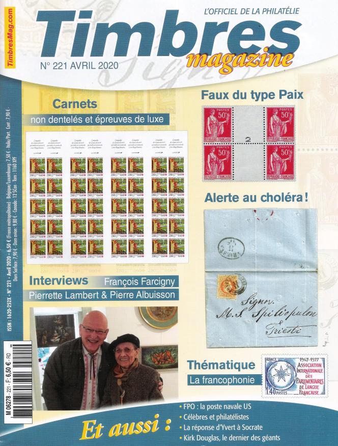 « Timbres magazine », 108 pages, en vente en kiosques, 6,50 euros, ou par correspondance auprès de Timbropresse.