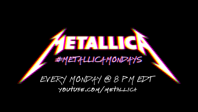 Affiche des concerts du lundi du groupe Metallica.