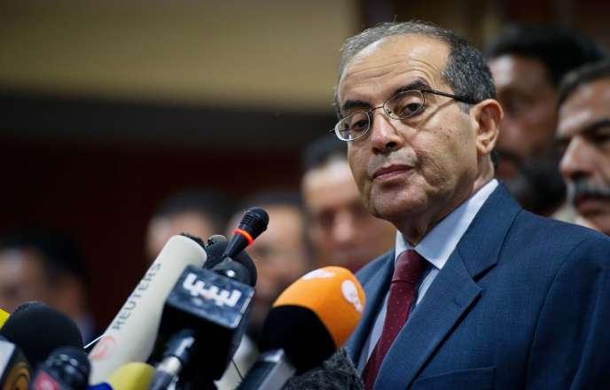 Mahmoud Jibril lors d'une conférence de presse à Tripoli, en Libye, le 11septembre 2011.