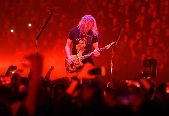 Kirk Hammett, du groupe Metallica, en concert à Nashville dans le Tennessee, en janvier 2019.