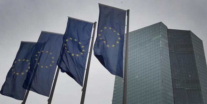 La Banque centrale européenne, à Francfort (Allemagne), le 12 mars 2020.