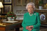 La reine Elisabeth, le 5 avril.