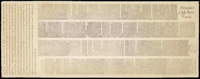 Pigeongramme de la guerre de 1870-1871,deux dépêches dont une manuscrite et chiffrée du 31 octobre 1870 s/papier photographique. Prix de départ 250 euros, vente Behr clôturée le 21 mai.