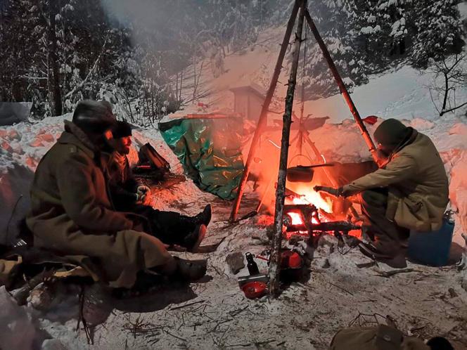 Un camp d'hiver des Primitifs, en février dernier auQuébec.