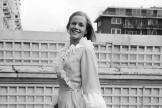 L'actrice britanniqueHonor Blackman à Londres, en janvier 1969.