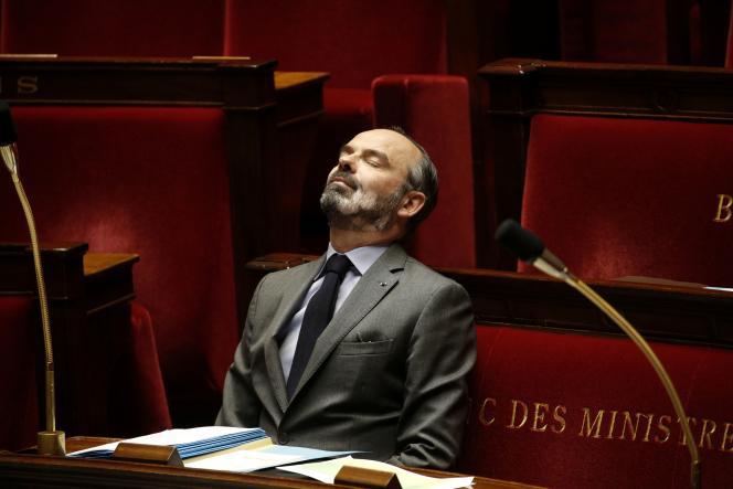 Edouard Philippe à l'Assemblée nationale à Paris, le 31 mars.