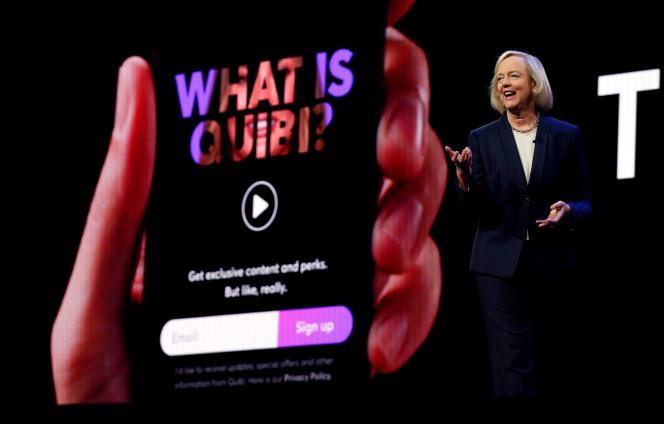 La PDG de Quibi, Meg Whitman, lorsduConsumer Electronic Show à Las Vegas (Nevada), le 8 janvier.