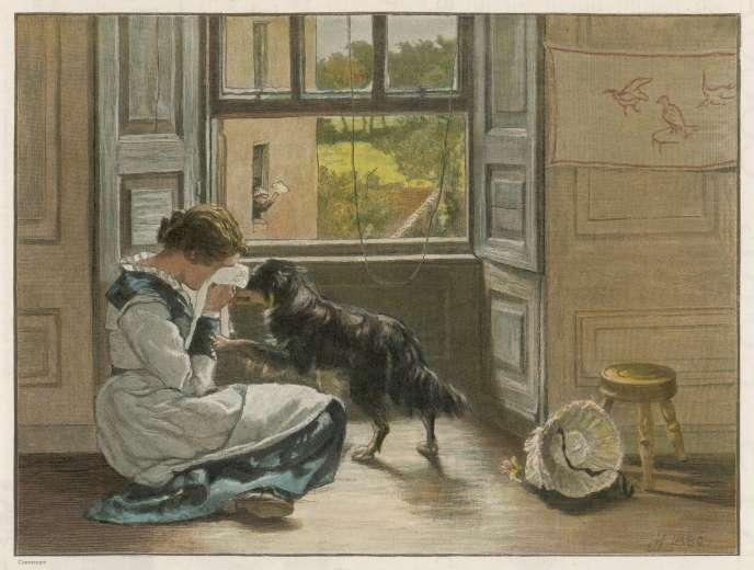 Empathie. Illustration du XIXe siècle.