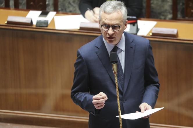 Le ministre français de l'économie et des finances, Bruno Le Maire, à l'Assemblée nationale, à Paris, le 19 mars.