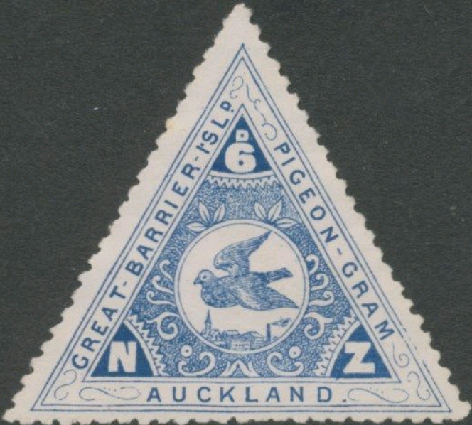 « Great Barrier Island Pigeon-Gram Auckland», 1901.
