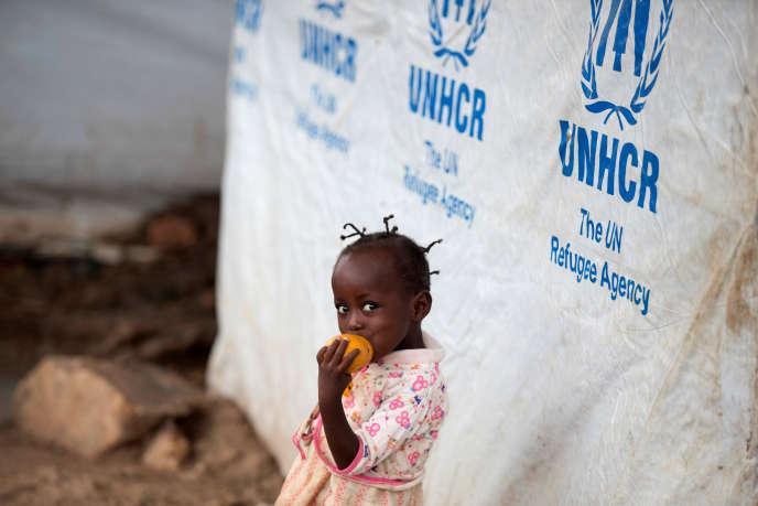 Dans un camp de déplacés à Bangui, en avril 2017.