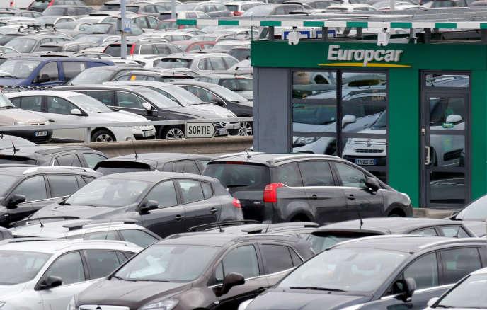 Un bureau Europcar à l'aéroport de Bordeaux-Mérignac, le 4 février 2016.