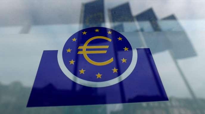 Le logo de la Banque centrale européenne (BCE), à Francfort (ouest de l'Allemagne), le 23 janvier.