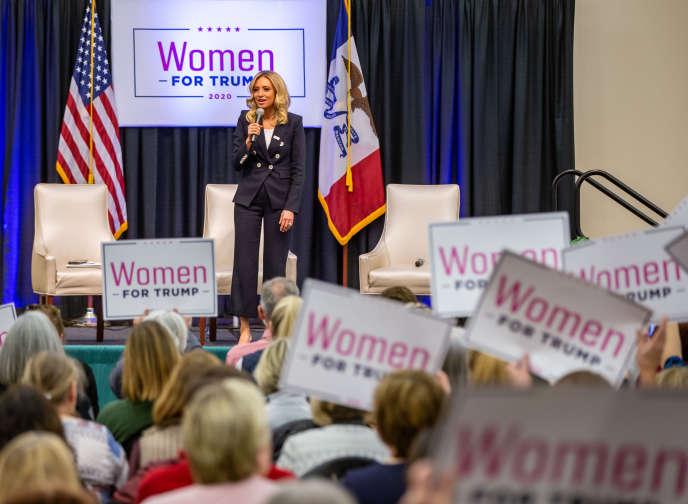 Kayleigh McEnany, nommée le 7 avril nouvelle porte-parole de la Maison Blanche, participait le 16 janvier 2020 à une conférence«Women for Trump», à Des Moines, dans l'Iowa.
