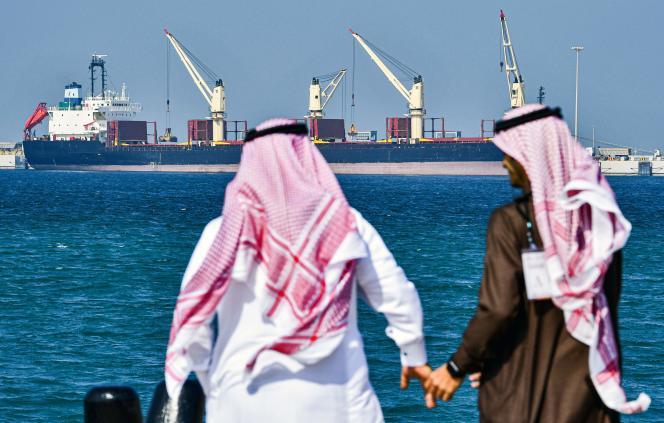 Un tanker dans le port de Ras Al-Khair, en Arabie saoudite, le 11 décembre 2019.