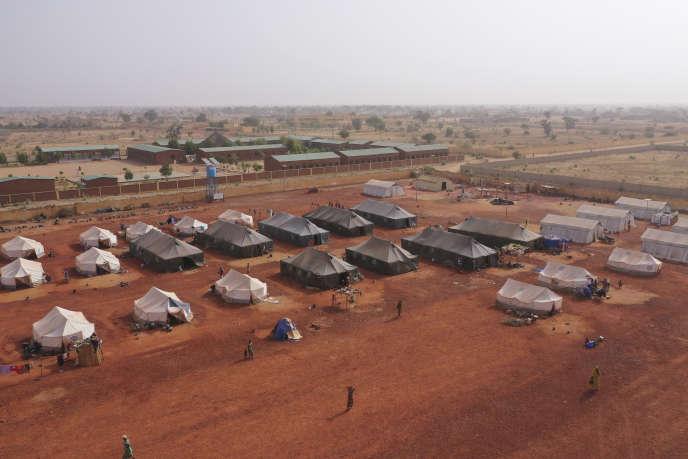 Un camp de déplacés à Sévaré, au Mali, le 28février 2020.