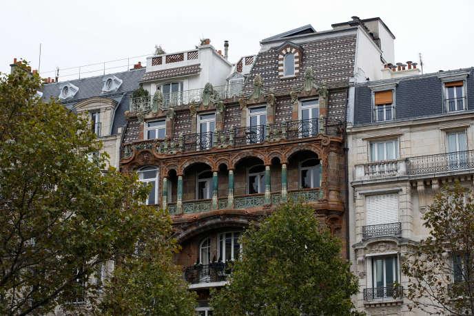 Des appartement de standing dans le septième arrondissement de Paris, l'un des plus cossus de la capitale,en octobre 2019.
