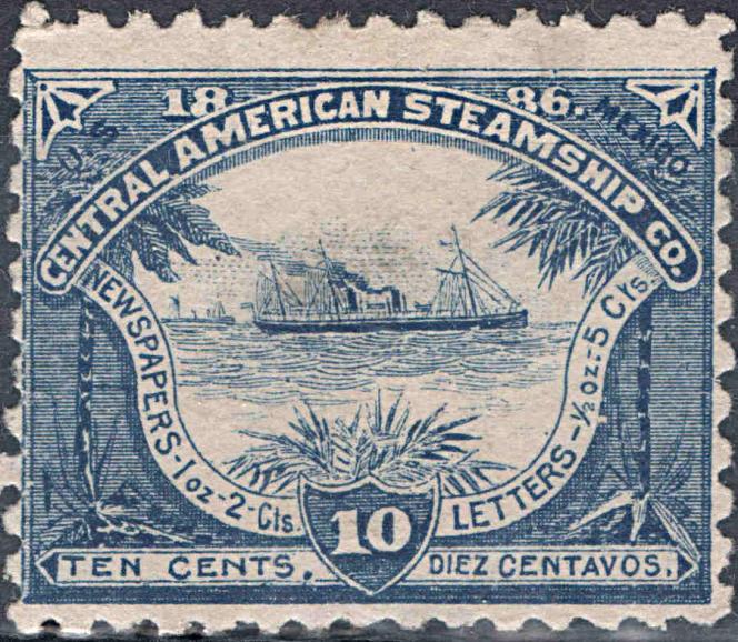 Timbre de la Central American Steamship Company.