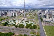 L'Espalande des ministères, également appelée «axe monumental», à Brasilia (Brésil), le 20 mars 2020.