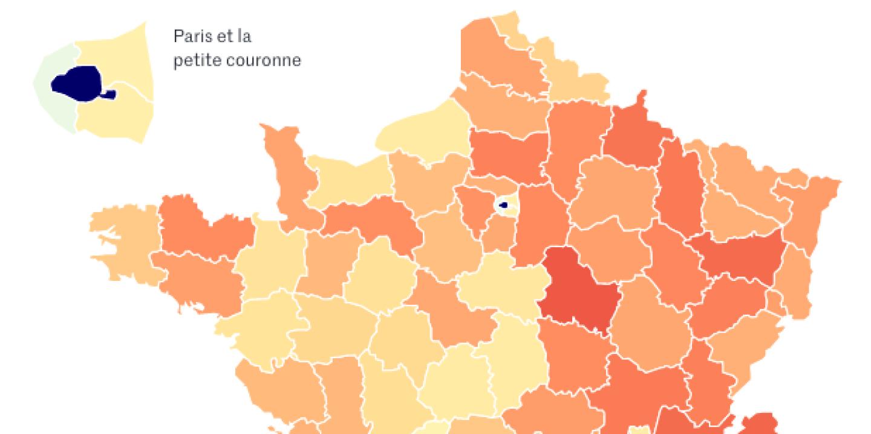 Coronavirus : quels départements ont gagné ou perdu le plus d'habitants depuis le confinement ?