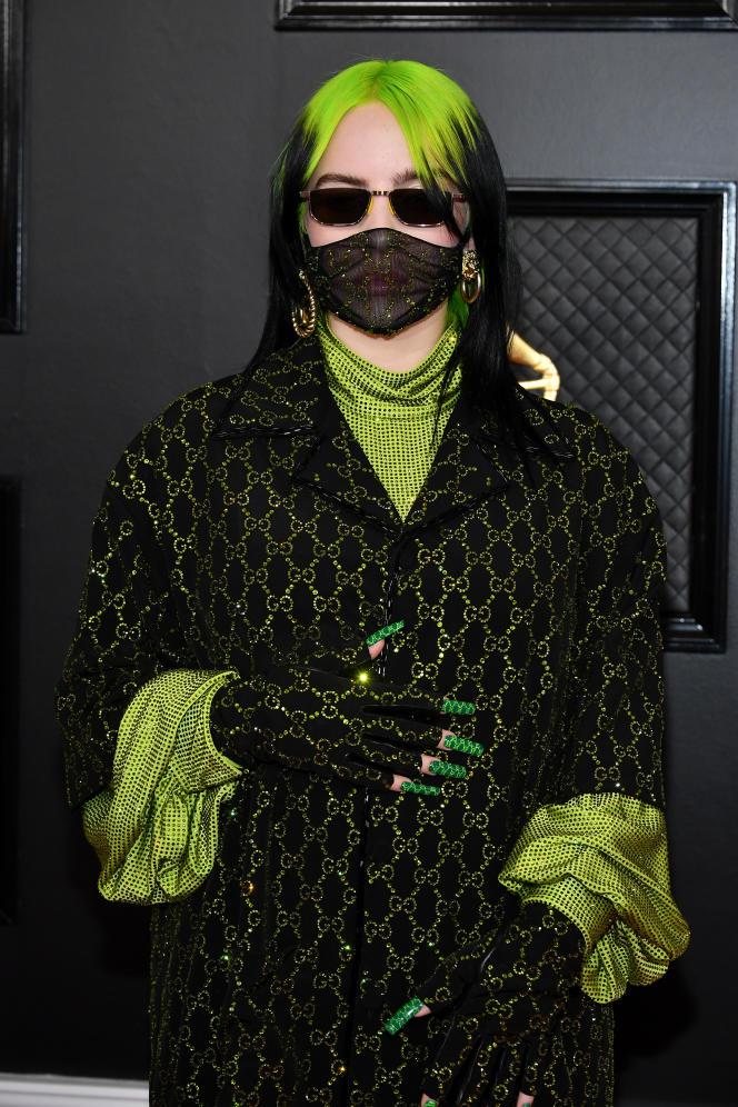 Billie Eilish, à la cérémonie des Grammy Awards, à Los Angeles, le 26 janvier.