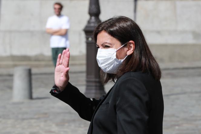La maire de Paris, Anne Hidalgo, le 9avril à Paris.