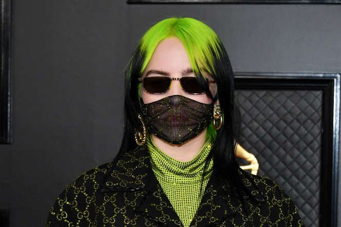 Billie Eilish, à la cérémonie des Grammy Awards, à Los Angeles, le 26 janvier.