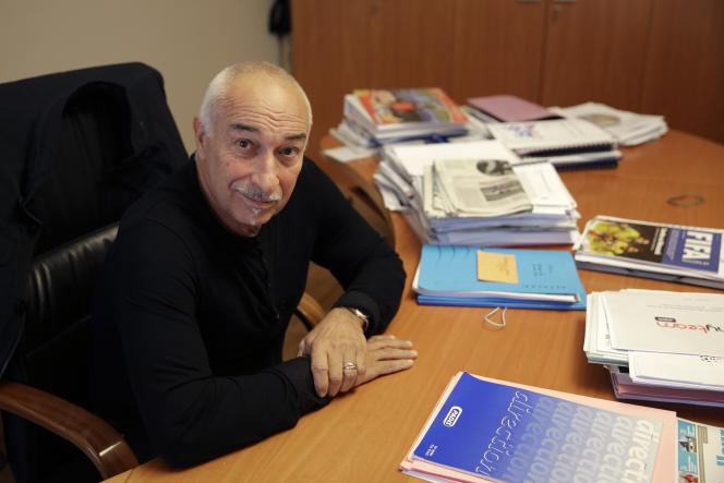 Philippe Piat, à son bureau parisien, en 2013.