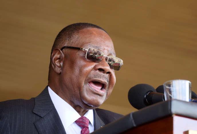 Le président du Malawi Peter Mutharika à Blantyre, en mai 2019.