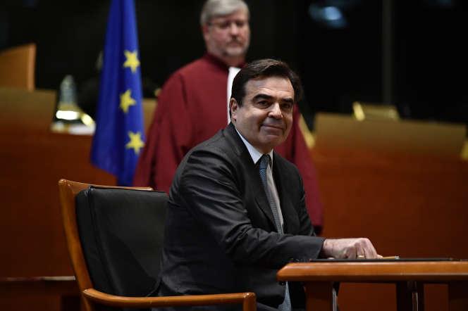 Le vice-président de la Commission européenne,à la Cour de justice de l'Union européenne à Luxembourg, le 13 janvier.