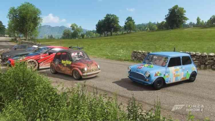 La vue de Gaël dans «Forza Horizon». «Parfait pour s'aérer l'esprit en se baladant au sein de l'immense carte proposée, rencontrer d'autres joueurs, faire des courses, peindre ses voitures, etc.»