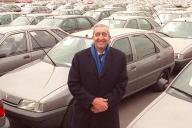 Jacques Calvet, alors PDG de Peugeot-Citroën, en janvier 1991.