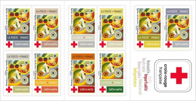 Carnet « Croix-Rouge» d'après Robert Delaunay, vente en attente de confirmation le18 mai.
