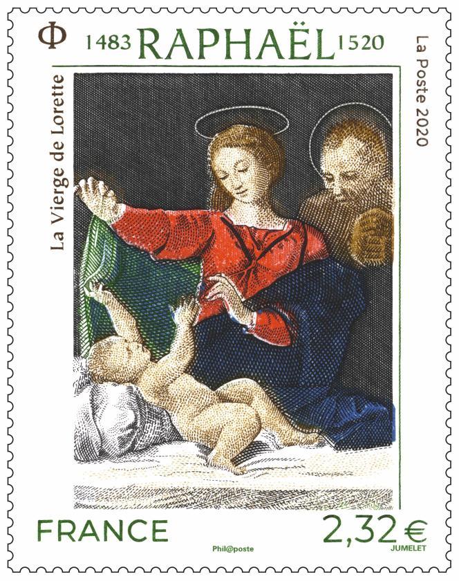 Raphaël,« La Vierge de Lorette», vente générale dans certains bureaux de poste (ou par correspondance) le 20 avril maintenue.