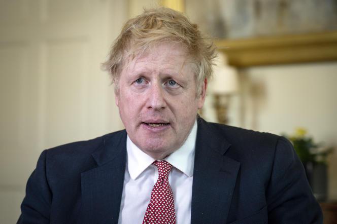 Boris Johnson, le 12 avril à Londres.
