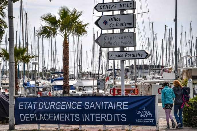 Le 12 avril, sur le port de plaisance de La Grande-Motte, dans l'Hérault.