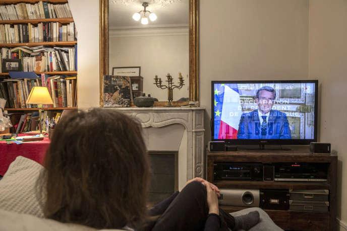 Allocution télévisée d'Emmanuel Macron, le 13 avril.
