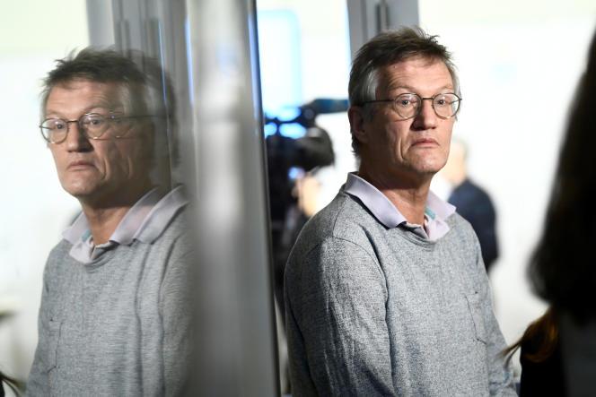 L'épidémiologiste en chef de l'Agence de la santé publique suédoise, Anders Tegnell, lors d'une conférence de presse à Stockholm, le 12 mars.