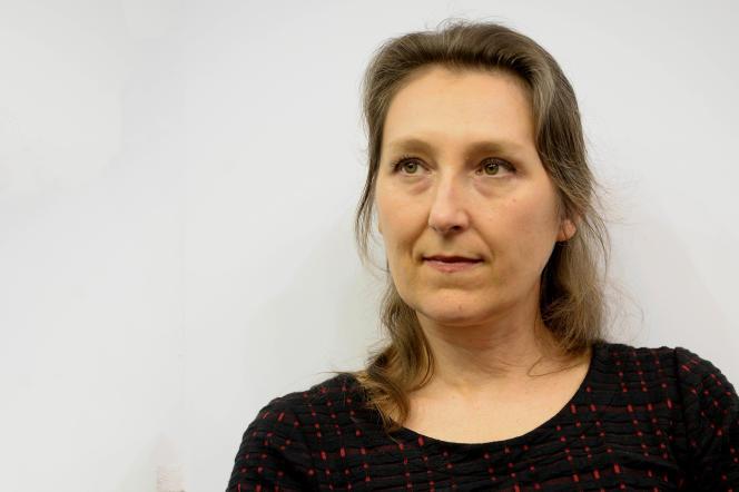 L'écrivaine Marie Darrieussecq, en 2017, à Paris.