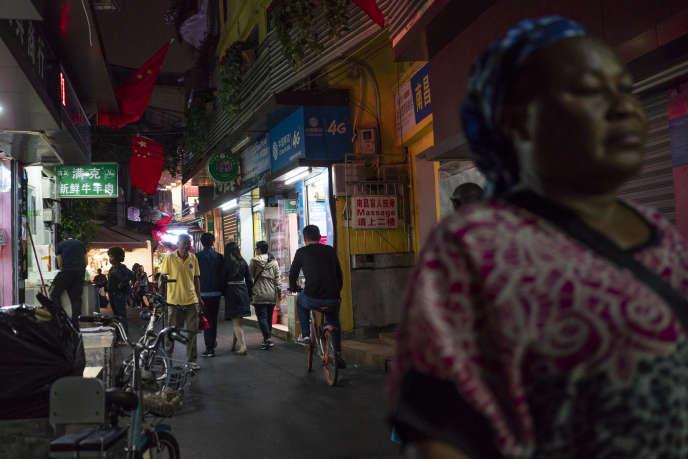 Dans le quartier de Little Africa de Canton (Chine), en mars 2018.