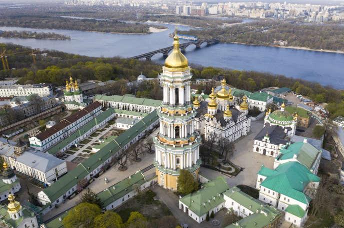 La laure des grottes de Kiev, le 13 avril. Le monastèrecompte 93 cas de personnes infectées par le coronavirus.
