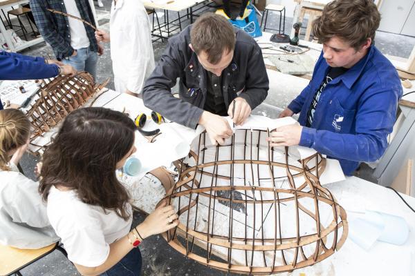 Atelier maquette à l'école de designNantes-Atlantique.