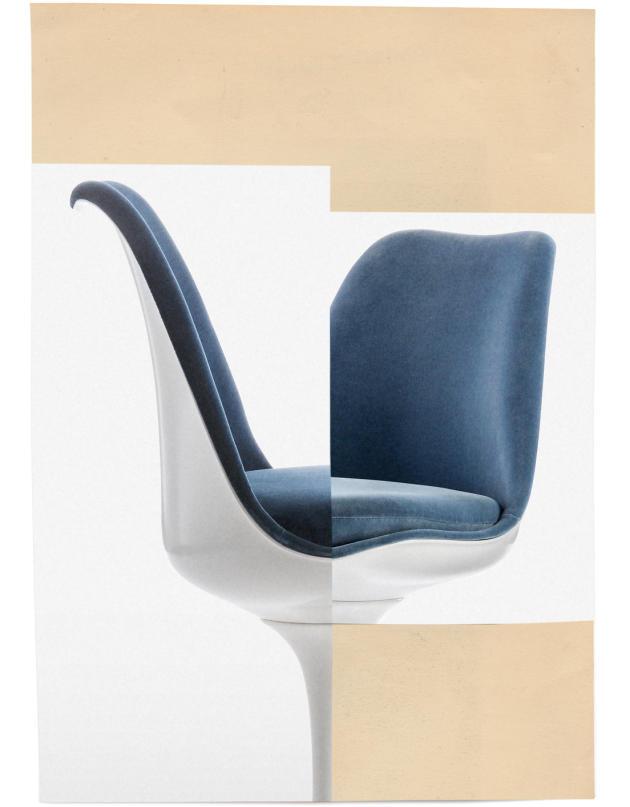 <p>La Tulip Chair (1957), d'Eero Saarinen, chez Knoll.</p>