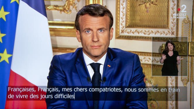 L'allocution télévisée d'Emmanuel Macron, le 13 avril.
