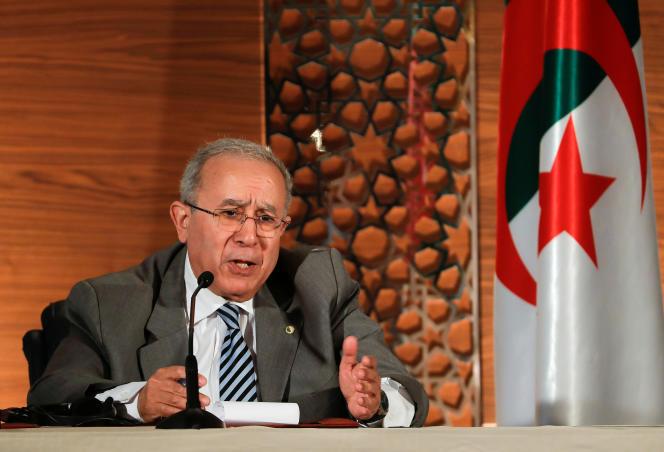 Le vice-premier ministre algérien Ramtane Lamamra à Alger, le 14 mars 2019.